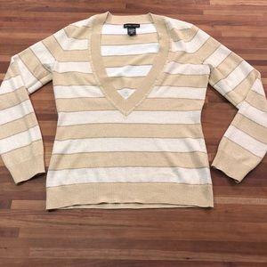NY&Co gold shimmer deep V sweater